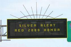 Silver Alert sign