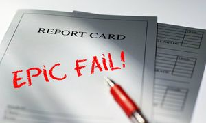 Report card epic fail