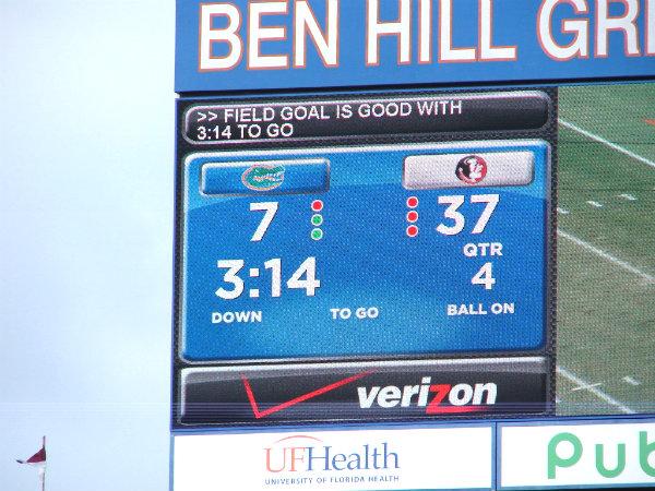 Fla field scoreboard